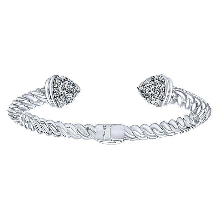 925 Silver White Sapphire Bangle