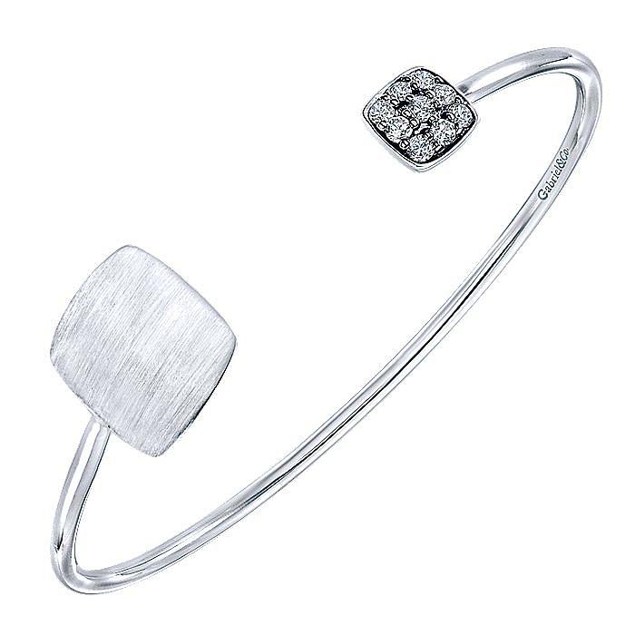 925 Silver White Sapphire Engravable Bangle