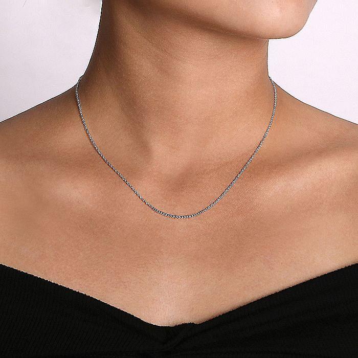 925 Sterling Silver Bujukan Bead Bar Necklace