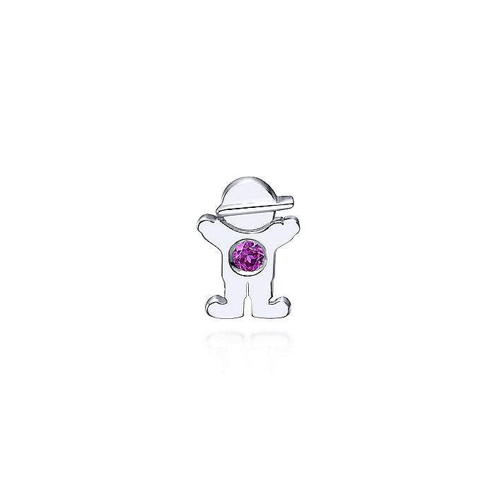 925 Sterling Silver Little Boy Pendant with Amethyst Stone