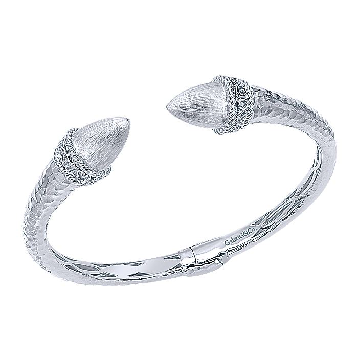 925 Sterling Silver Open Hinged Bangle