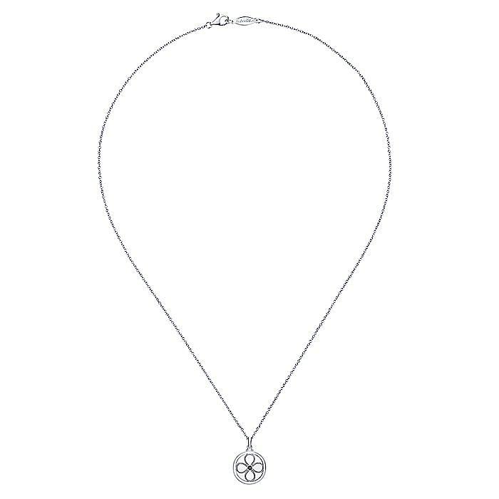 925 Sterling Silver Smoky Quartz Floral Locket Necklace