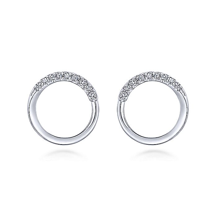 925 Sterling Silver White Sapphire Bypass Stud Earrings