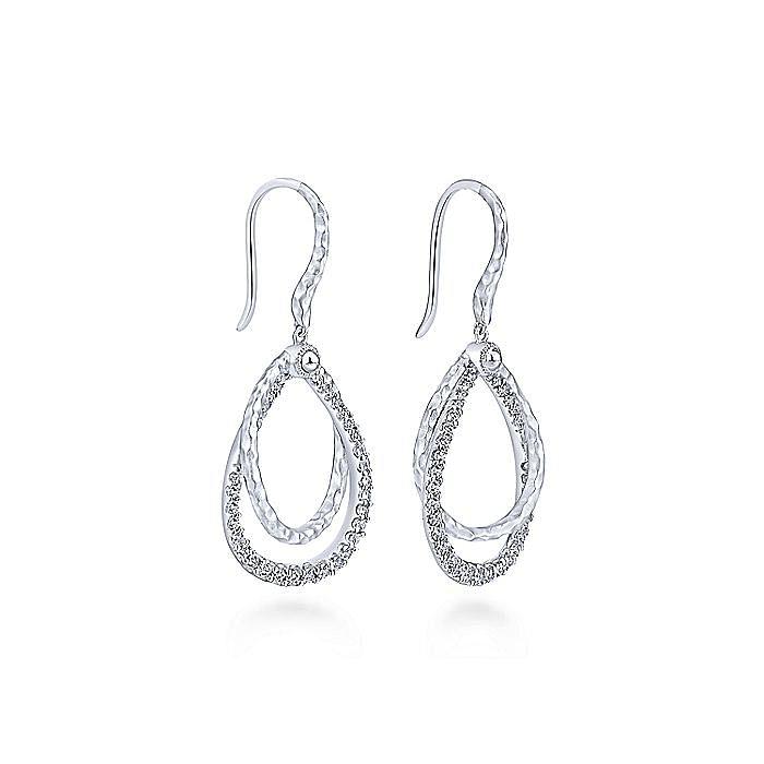 925 Sterling Silver White Sapphire Drop Earrings