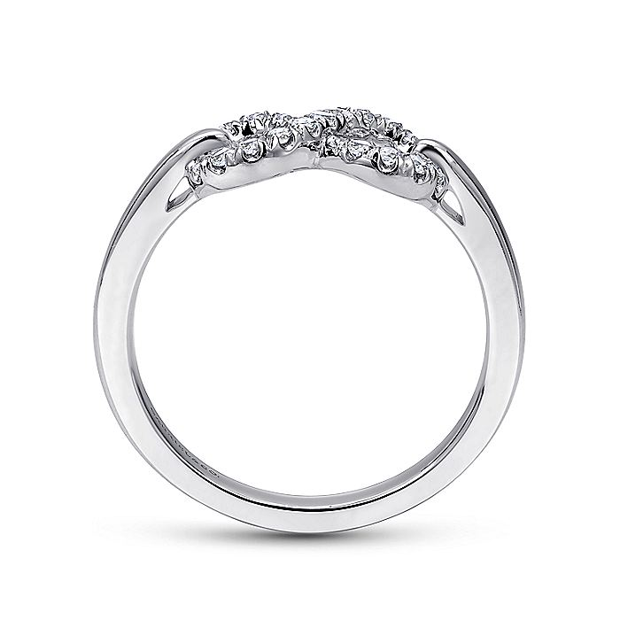 925 Sterling Silver White Sapphire Infinity Ring