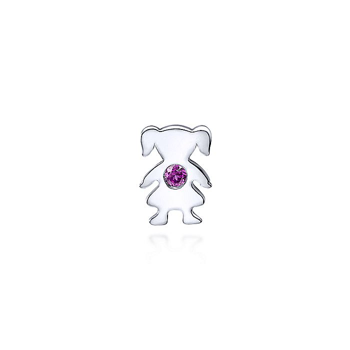 926 Sterling Silver Little Girl Pendant with Amethyst Stone