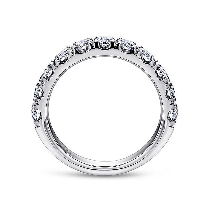 Platinum 11 Stone French Pavé Set Diamond Wedding Band