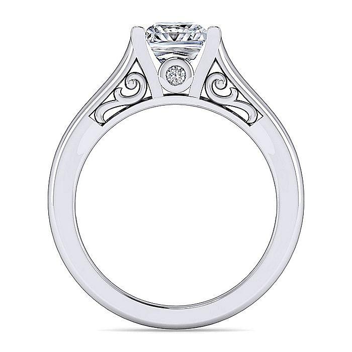 Platinum Princess Cut Diamond Engagement Ring