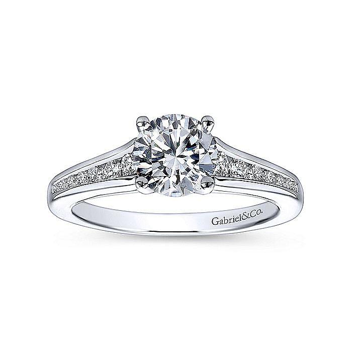 Platinum Round Diamond Engagement Ring