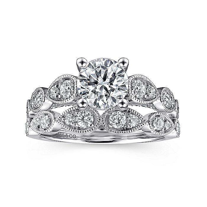 Platinum Round Diamond Engagement Ring
