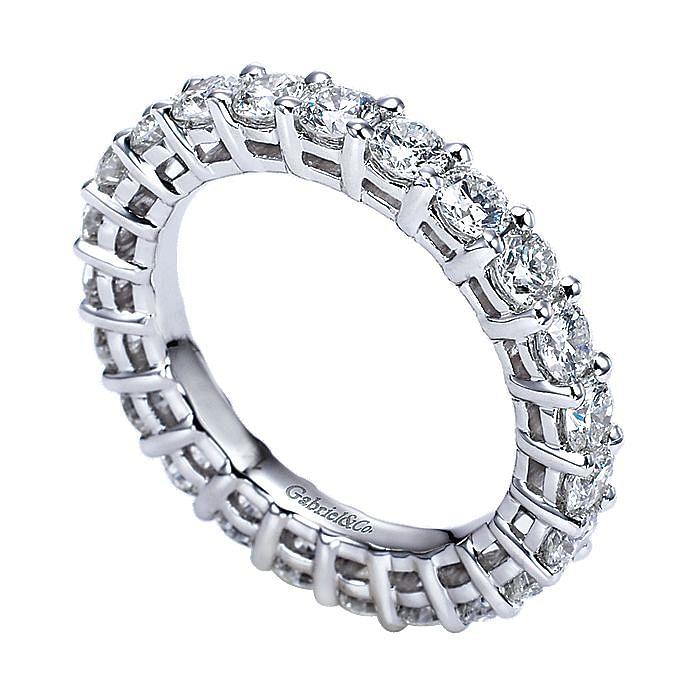 Prong  Eternity Diamond Ring in Platinum