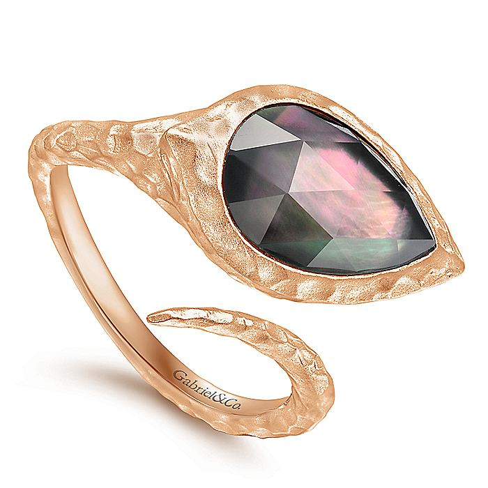 Rose Plated Silver Fashion Ladies Ring