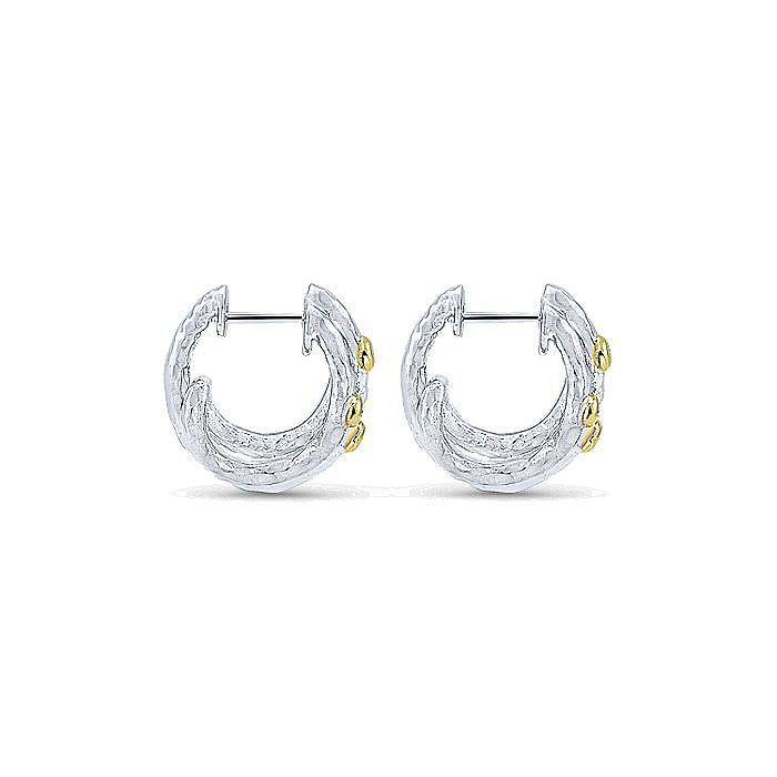 Silver-18K Yellow Gold 15MM Fashion Earrings