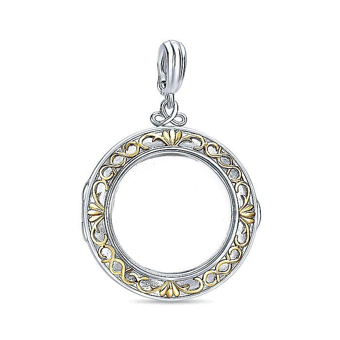 Silver-18K Yellow Gold Fashion Pendant