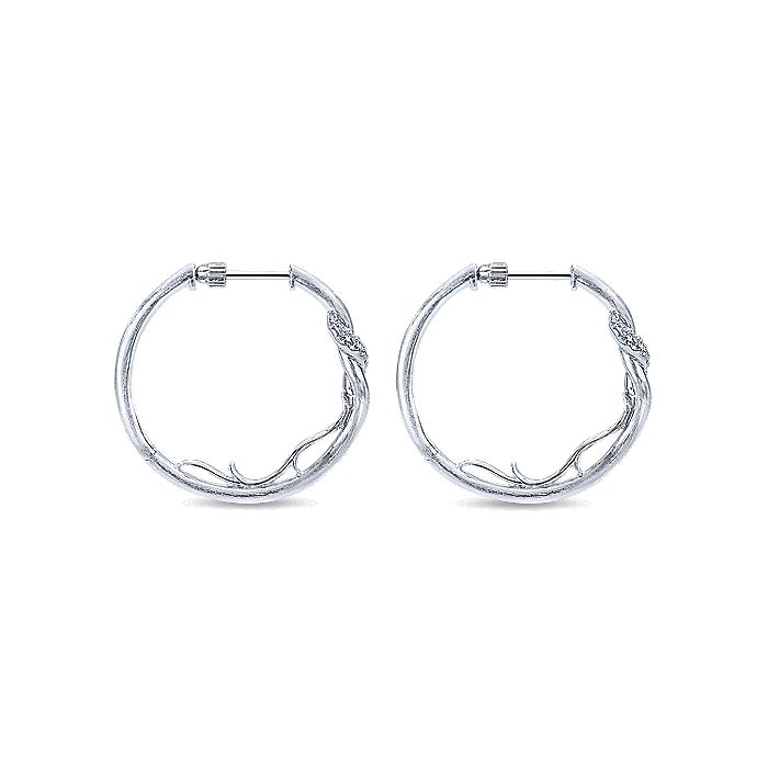 Silver 25MM Fashion Earrings