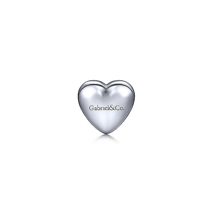Silver Citrine Heart Pendant