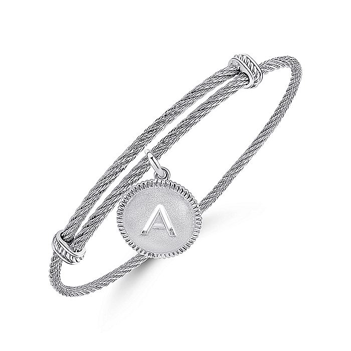 Silver-Stainless Steel Fashion Bangle