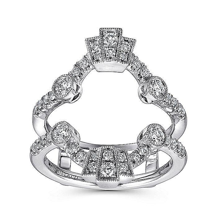 Vintage Inspired 14K White Gold Diamond Ring Enhancer
