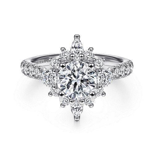 9972f0d6d1faf 14K White Gold Fancy Halo Round Diamond Engagement Ring - ER14450R4W44JJ