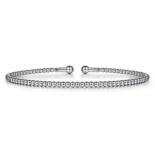 243dcc399209d 14K White Gold Fashion Bangle - BG4107-65W4JJJ
