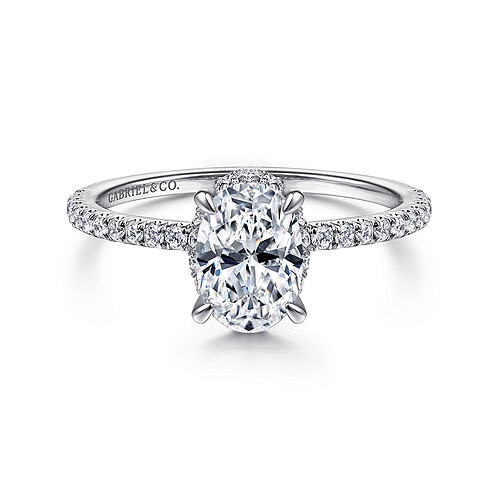 Oval Diamond Engagement Rings Gabriel Co