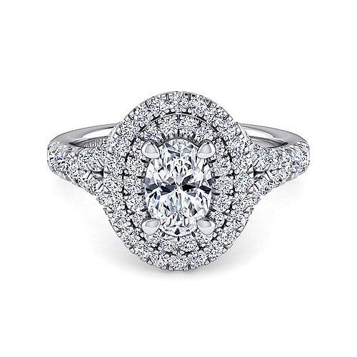 938febd4a085b 14K White Gold Oval Diamond Engagement Ring - ER10754O4W44JJ