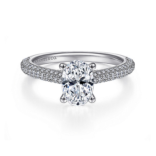 Straight Engagement Rings Cathedral Setting Gabriel Co