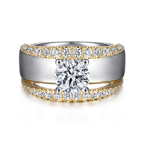 Wide Band Engagement Rings Gabriel Co