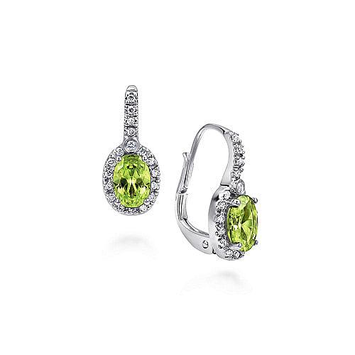 697b53cfd Peridot Earrings | August Birthstone Earrings | Gabriel & Co.