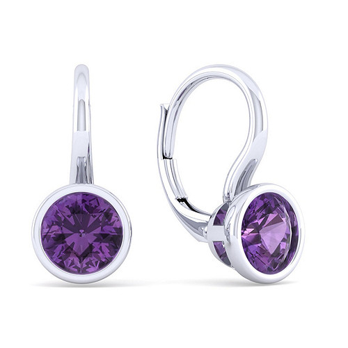 5-Pcs 92.5-Sterling Silver Amethyst Bezels 18mmx12mm SSPC032 Cushion Shape Amethyst 24K Gold Plated Double Bail Charm Connectors Size