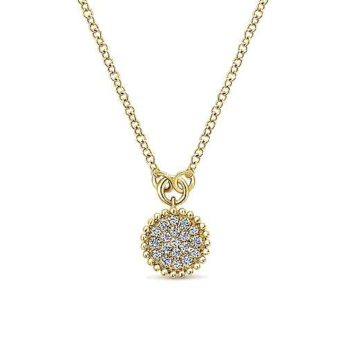 Gabriel - 14K  Ylw Gold Diamond Necklace