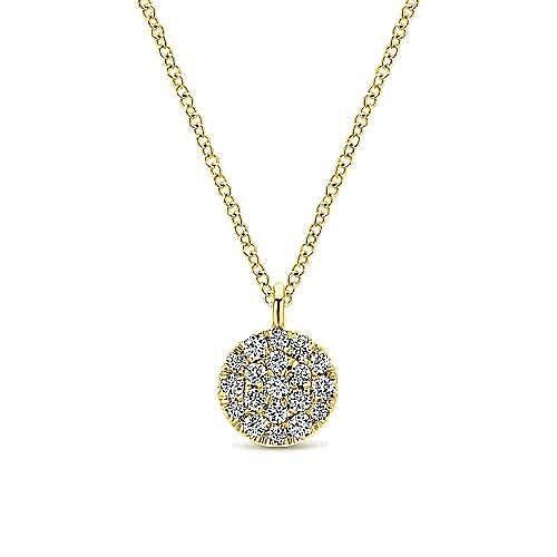 Gabriel - 14K  Ylw Gold Diamond Necklace