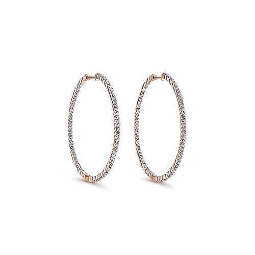Gabriel - 14K Pink Gold 45MM Fashion Earrings