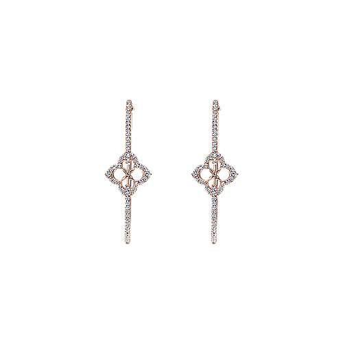 14K Pink Gold 45MM Fashion Earrings