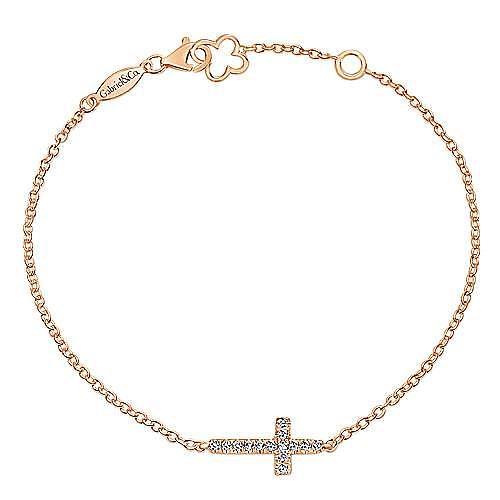 14K Pink Gold Diamond Bracelet