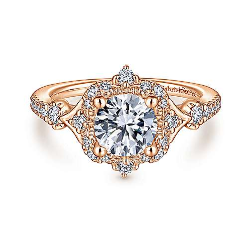 Gabriel - 14K Pink Gold Engagement Ring