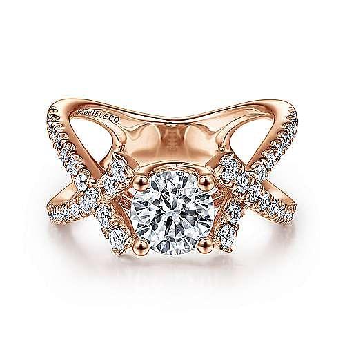 Gabriel - 14K Pink Gold Engagement Ring