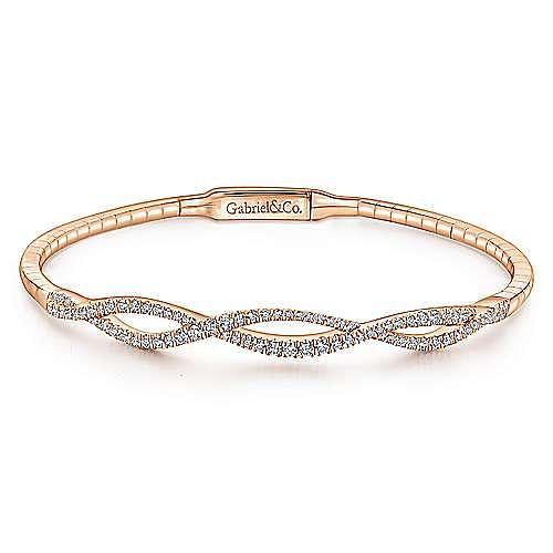 Gabriel - 14K Pink Gold Fashion Bangle