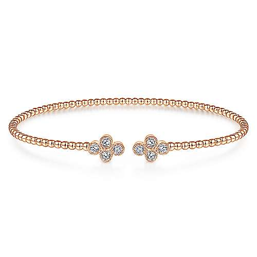 14K Pink Gold Fashion Bangle