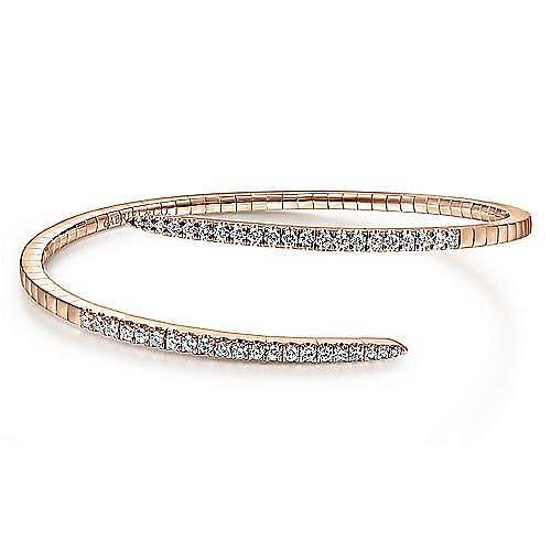 14K Pink Gold Fashion Bangle