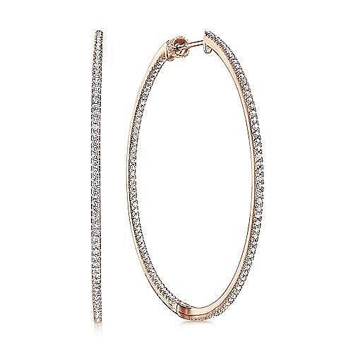 14K Pink Gold Fashion Earrings