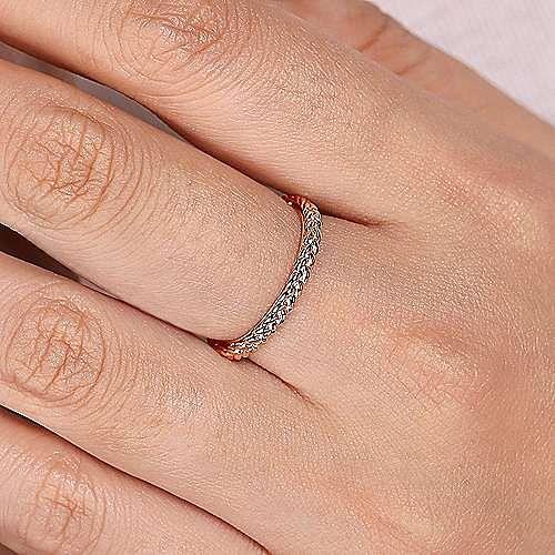 14K Pink Gold Fashion Ladies' Ring