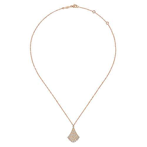 14K Pink Gold Fashion Necklace