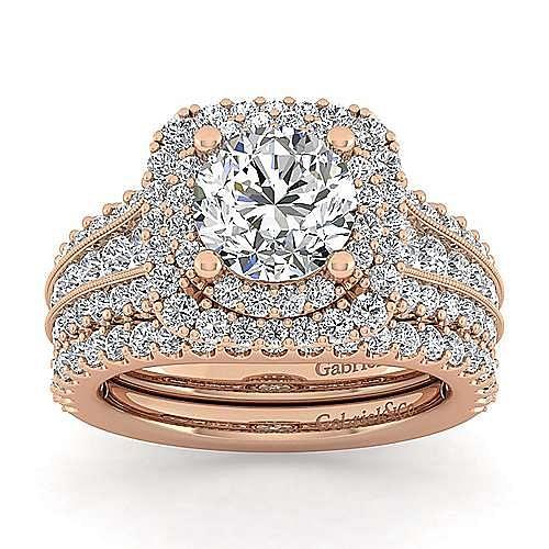 14K Pink Gold Matching Wedding Band