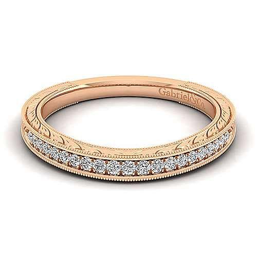Gabriel - 14K Pink Gold Matching Wedding Band