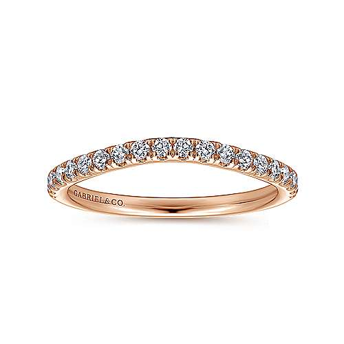 14K Pink Gold Matching Wedding Band