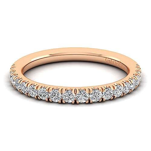 Gabriel - 14K Pink Gold Matching Wedding Band