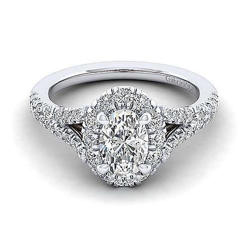 Gabriel - 14K Pink-White Gold Engagement Ring