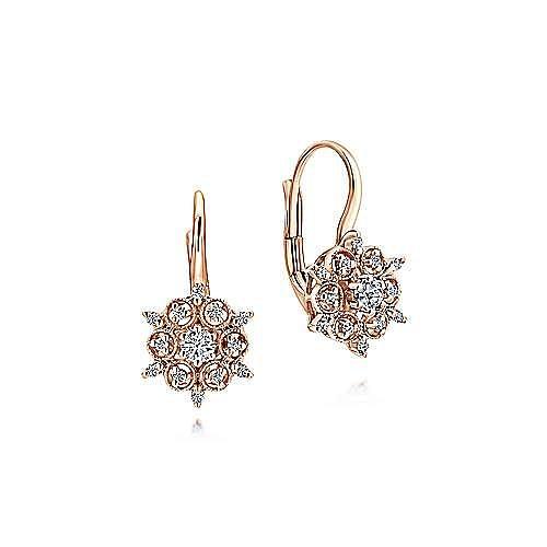 14K R.Gold Dia Earrings