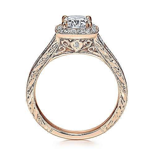 14K R.Gold Diamond Eng.Ring